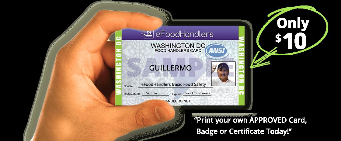 washington dc food handlers card | efoodhandlers® | $10